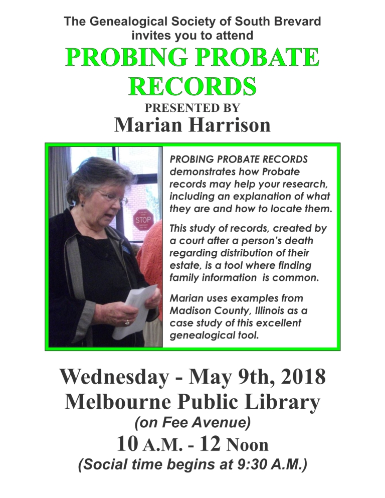 Probing Probate Records - Marian Harrison